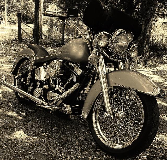 Harley retro fotka