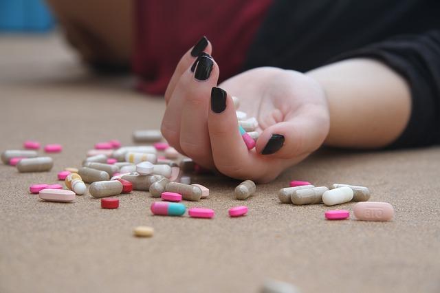 vysypané léky