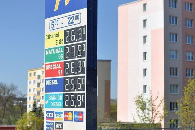 ceny PH na čerpací stanici