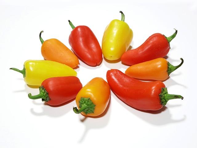 papriky třech barev
