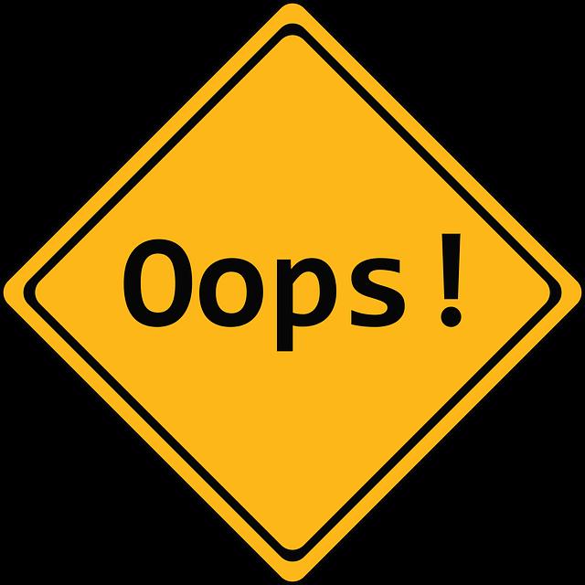 značka chyby