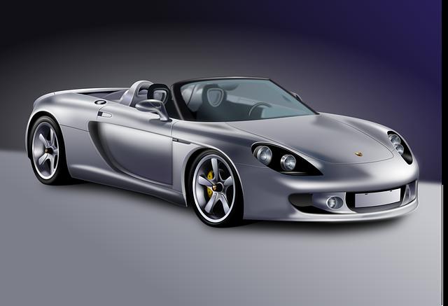 luxusní model vozu