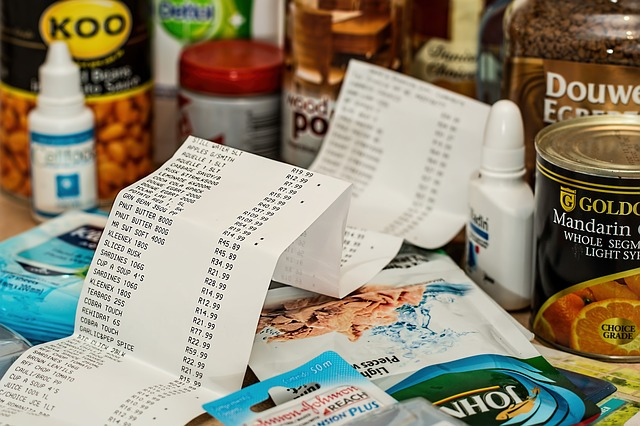 nákupní výdaje za jídlo