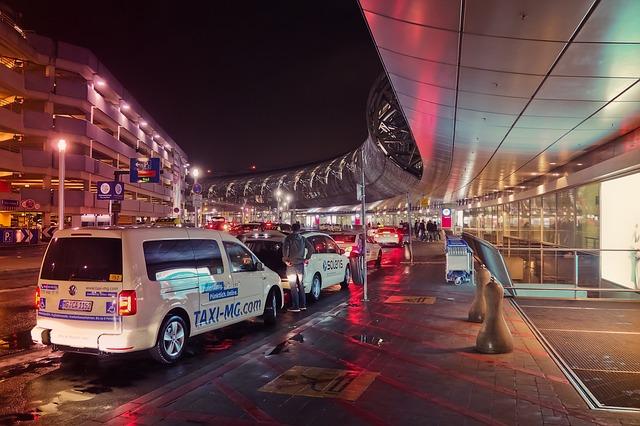 taxi u terminálu